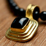 Onyx Ziggurat Necklace