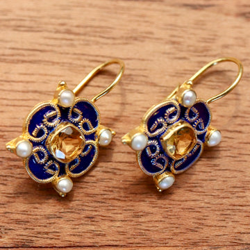 Mary Queen of Scots Earrings - Blue