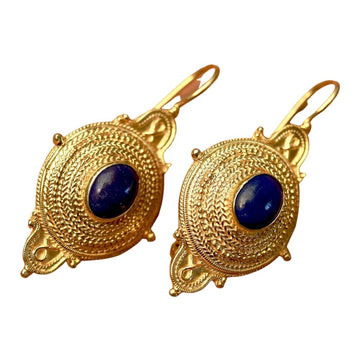 Northumbrian Lapis Lazuli Earrings
