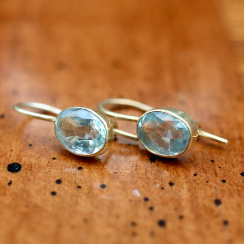 Aegean Aquamarine Earrings
