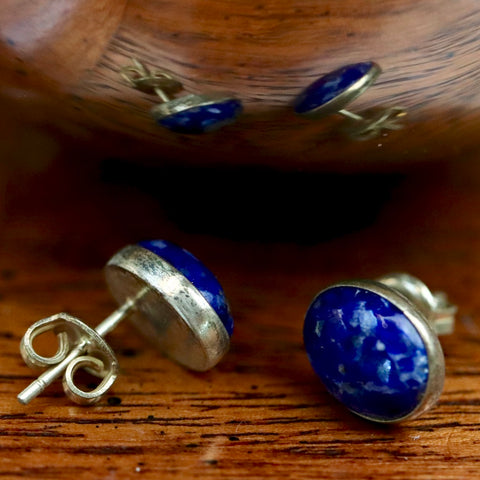 Van Gogh Lapis Stud Earrings