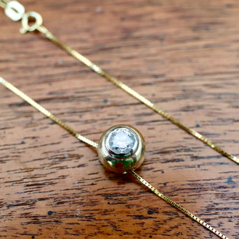 Diamond Globe Necklace