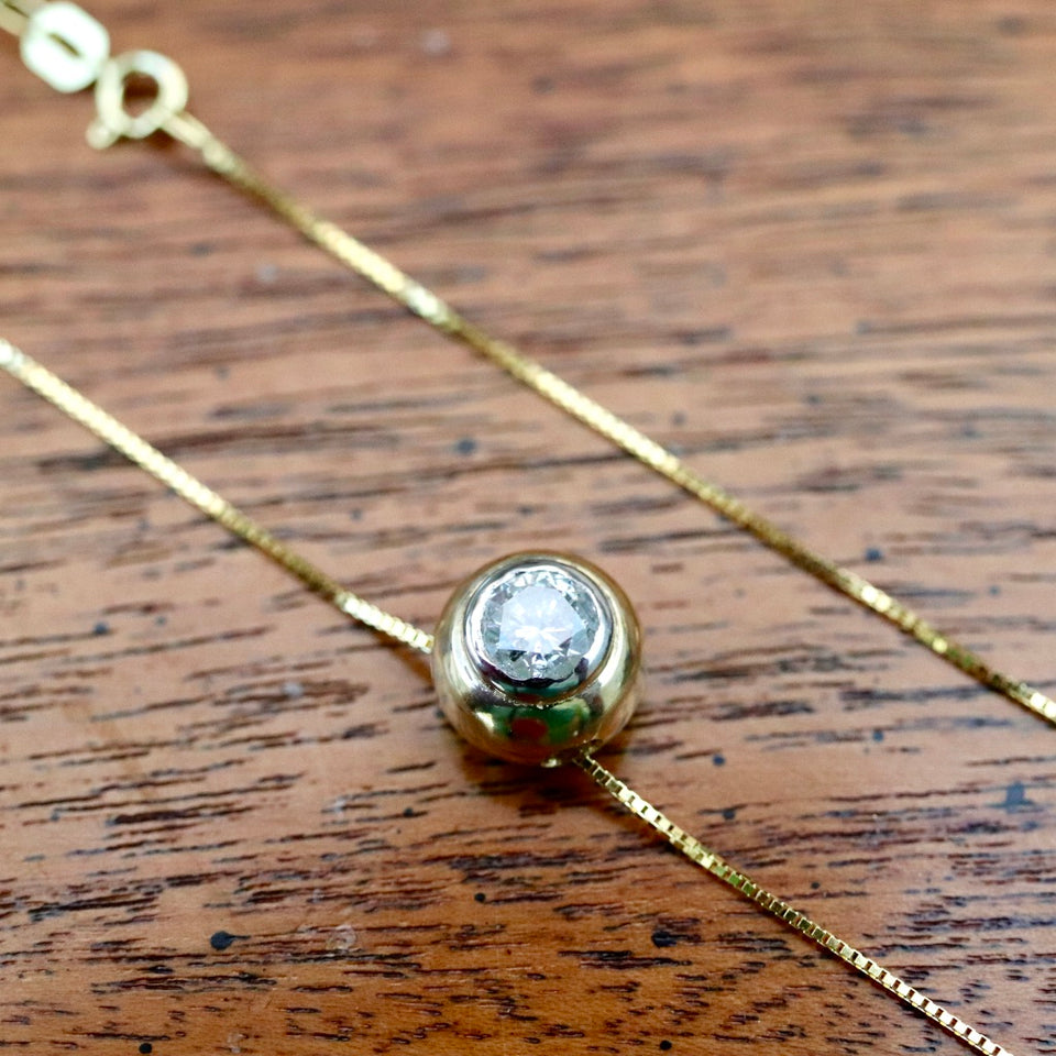 Diamond Globe Deco Necklace