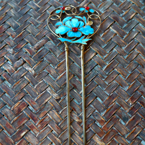 Antique Tian-Tsui (點翠) Hair Pin