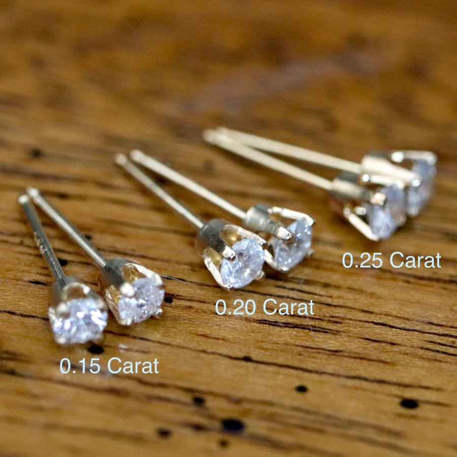 Sparkle 14k Gold and Diamond Earrings