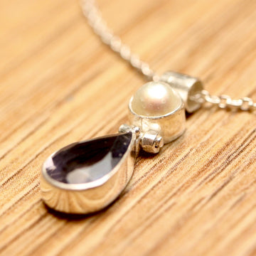Avonlea Iolite and Pearl Silver Necklace