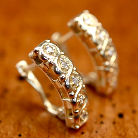 14k Diamond Crystal Palace Earrings