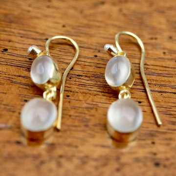 Pont Neuf Earrings: Moonstone and Pearl