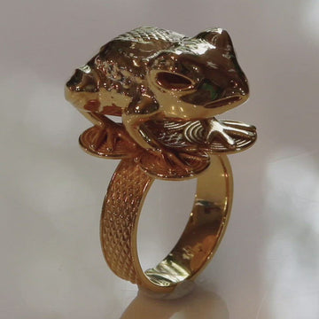 Asante Frog Mpetea (Chief's Ring) - Gold-Plated