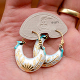 Vintage Shashi Birds In Bower Gold-Vermeil Earrings