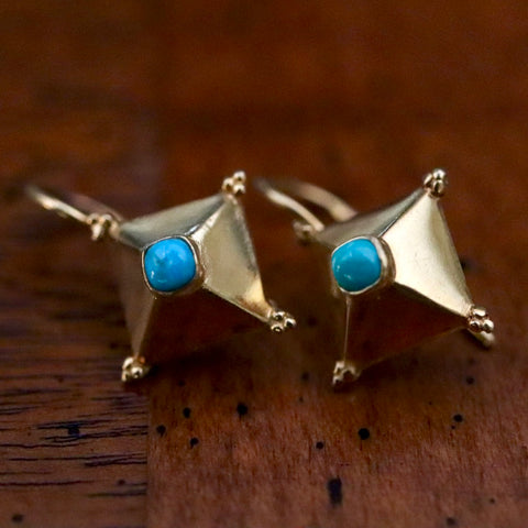 Cestius Turquoise Earrings
