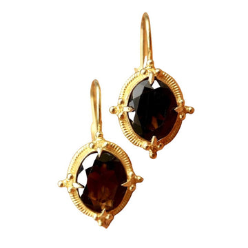 Aurelian Smoky Topaz Earrings