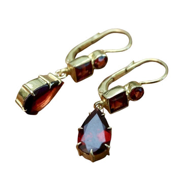 Duchess Of Kent Garnet Earrings