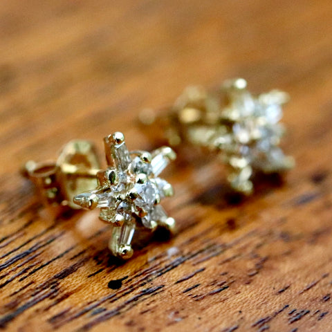 14k Starlight Diamond Studs