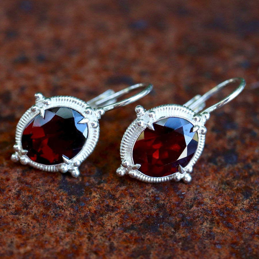Buckingham Garnet Earrings