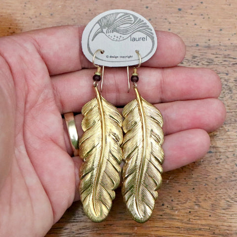 Vintage Laurel Burch Feather Earrings