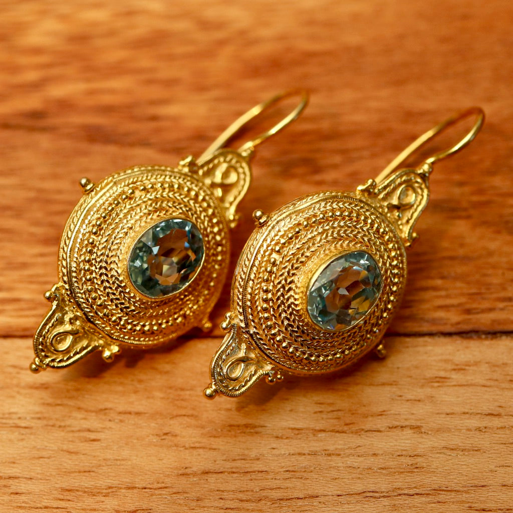 Northumbrian Blue Topaz Earrings