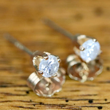 Sparkle 14k Gold and 0.2 Carat Diamond Studs