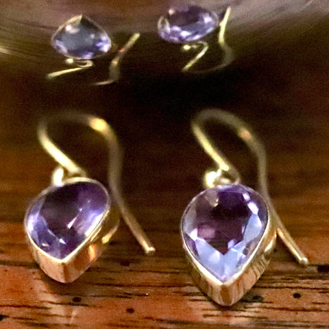 Lost Hearts Amethyst Earrings