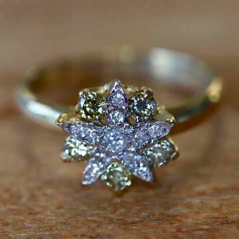 14k Diamond Belle Île Ring