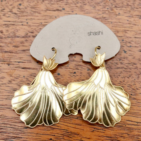 Vintage Shashi Iris Gold-Vermeil Earrings