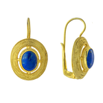 Filigree Oval Lapis Earrings