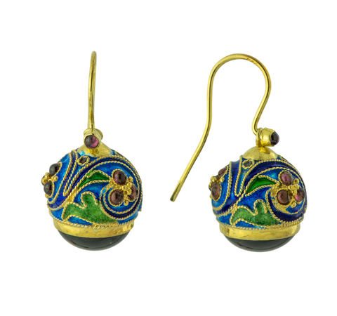 Round Russian Egg Earrings