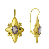 Amethyst Looking Glass Earrings