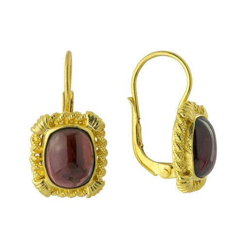 Edwardian Garnet Earrings