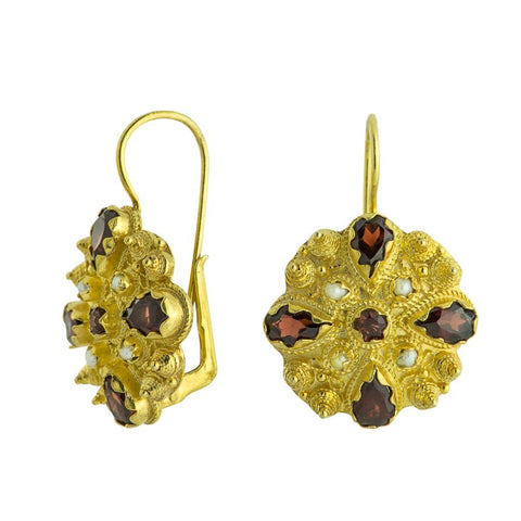 Fanny Burney Garnet Earrings