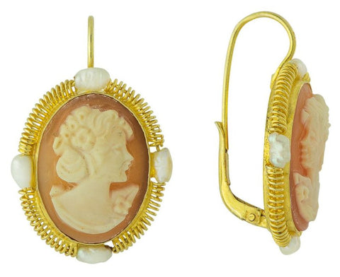 Everdene Cameo Earrings