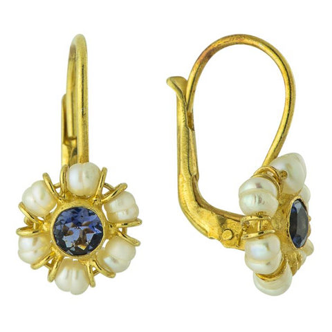 Sweet Adeline Iolite Earrings