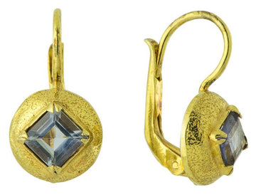 Prince of Persia Blue Topaz Earrings