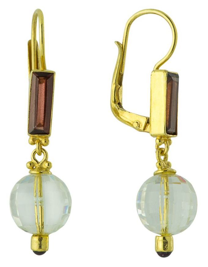 Felicity Fairchild Garnet and Crystal Earrings