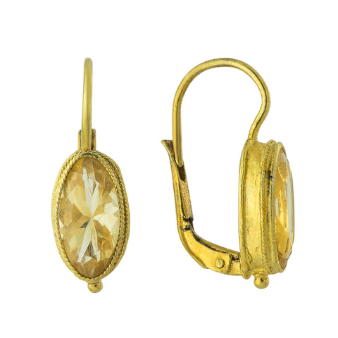 Citrine Cricket Earrings