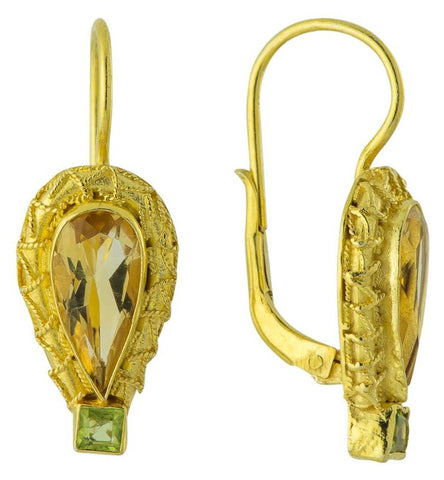 Penelope Pureheart Citrine & Peridot Earrings