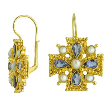 Isabella of Castille Iolite Earrings