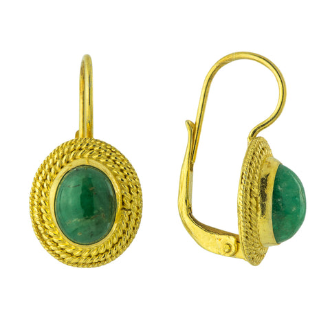 Lady Jane Grey Emerald Earrings