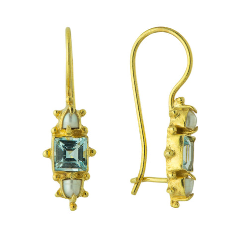 Milano Topaz & Pearl Earrings