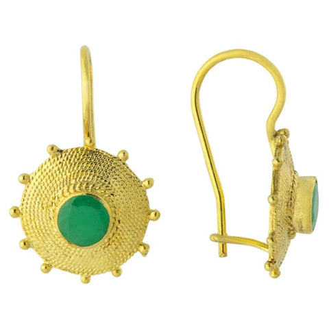 Sultana Emerald Earrings