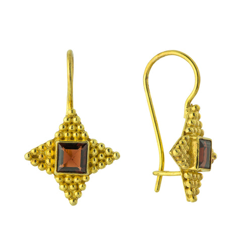 Alexandrian Star Garnet Earrings