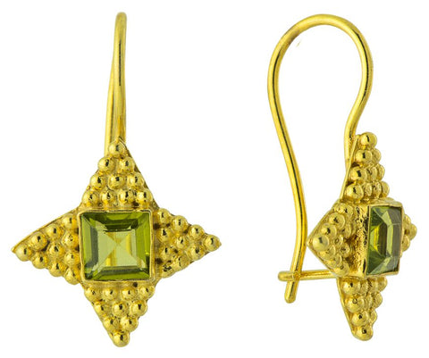 Alexandrian Peridot Star Earrings