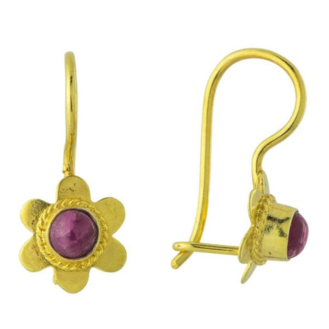 Ruby Rosebud Earrings