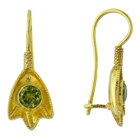Peridot Frond Earrings