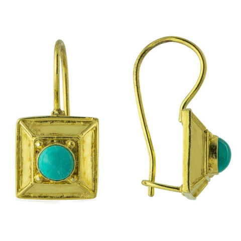 Turquoise Great Pyramid Earrings