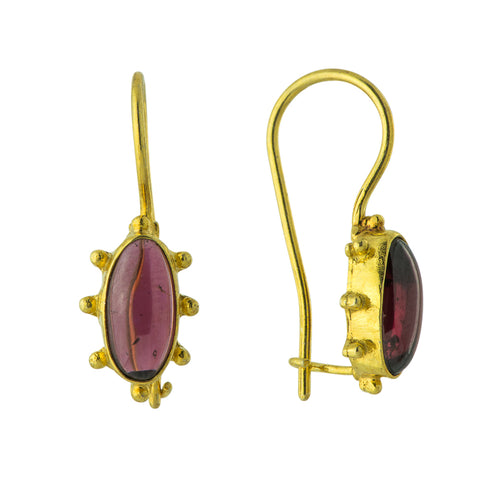 Metropolitan Blues Garnet Earrings