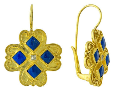 Victorian Lapis Earrings