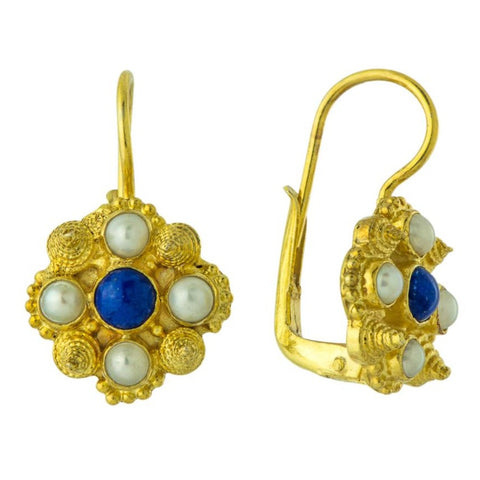 Ann Radcliffe Lapis Earrings