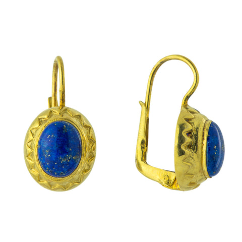 Crown Lapis Lazuli Earrings