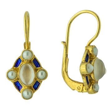 Blue Moon 14k Gold Earrings